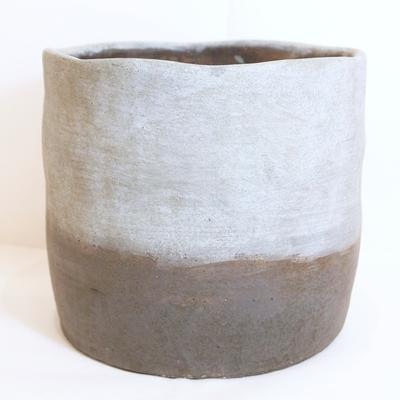 Vase rond façon béton