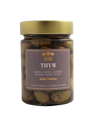 Olives Picholine cassées au Thym