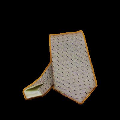 Cravate Ecaillée en Tissu Jacquard Homme