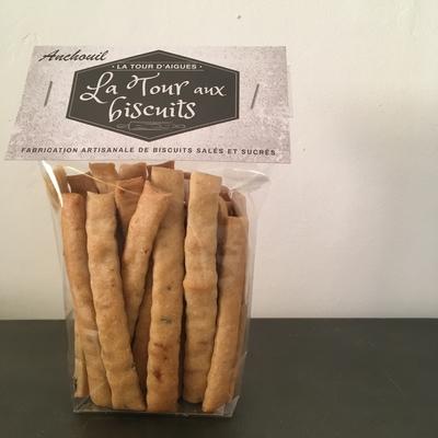 Anchouil:  biscuits apéritifs anchois/ fenouil - 100g