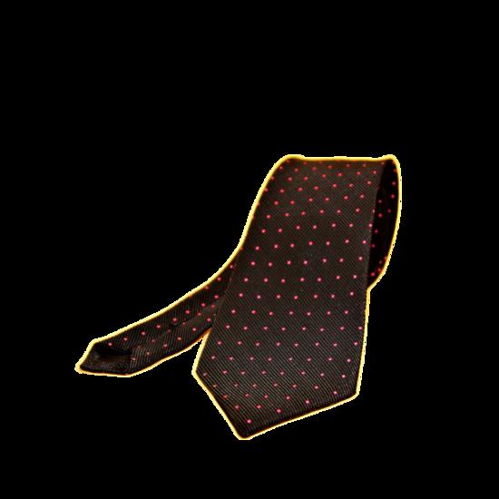 Cravate Rouge et Noire en Tissu Jacquard Homme