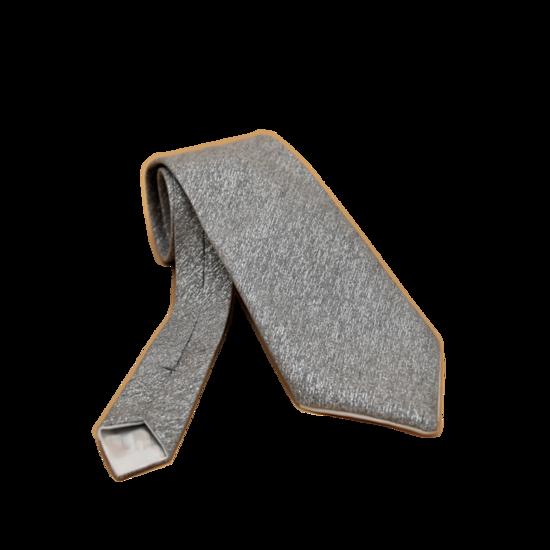 Cravate Argentée en Tissu Jacquard Homme